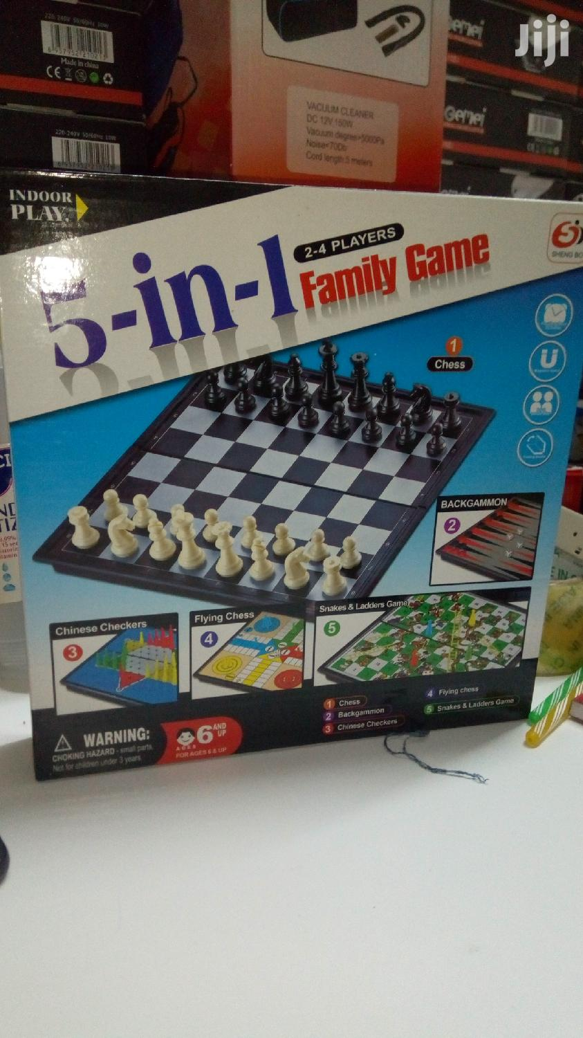 5 in 1 Family Game With Snake and Radder