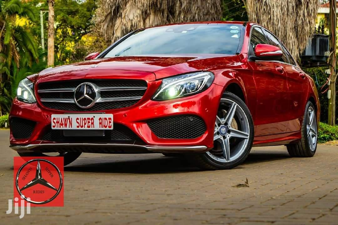 Mercedes-Benz C200 2015 Red