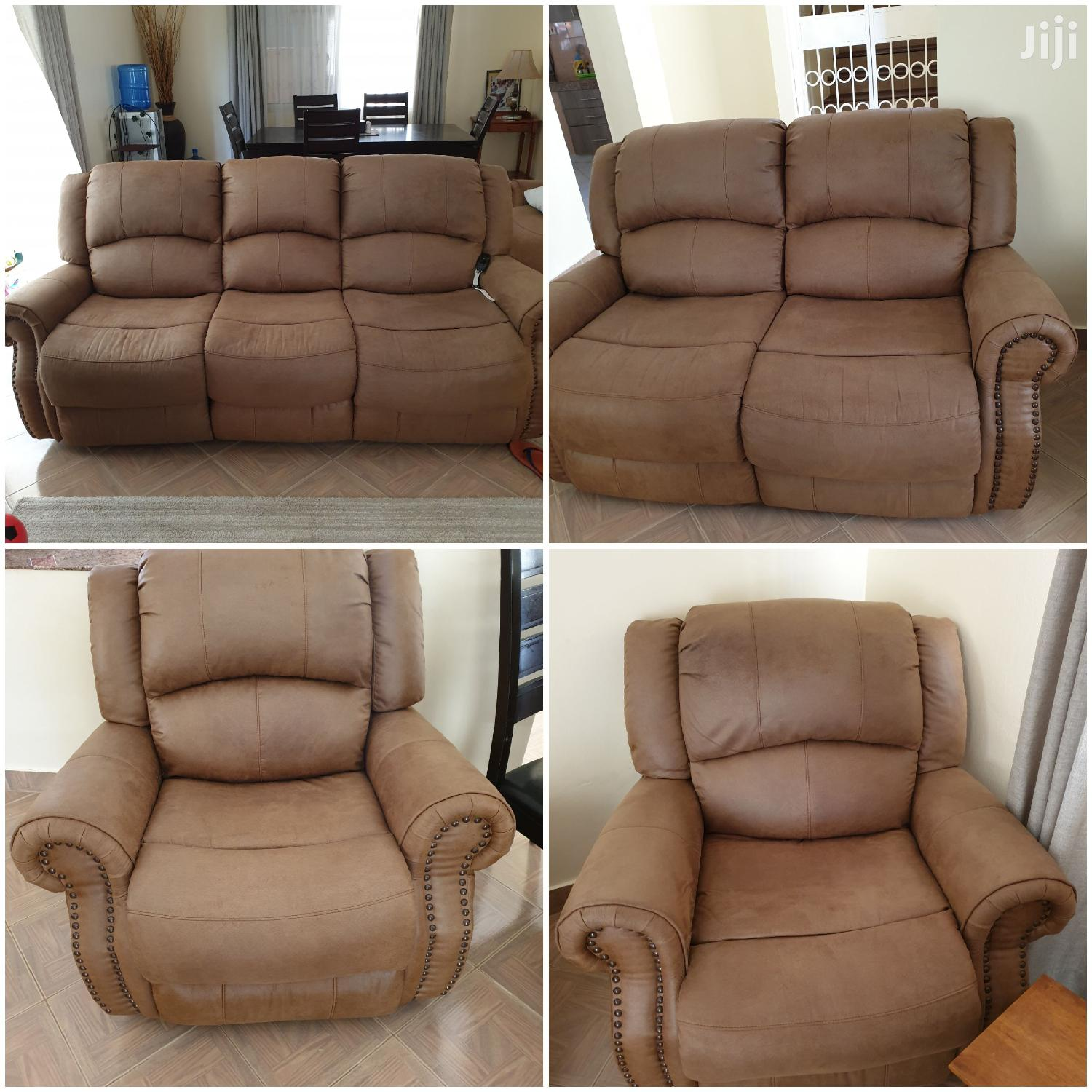 Archive: 7 Seater Fabric Recliner Sofa