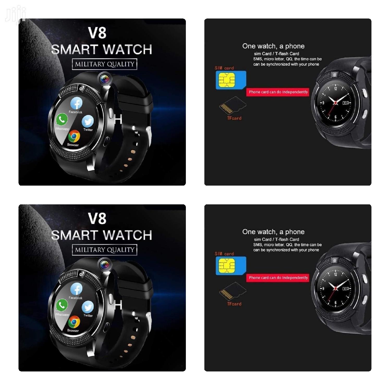 Black V8 Smart Watch
