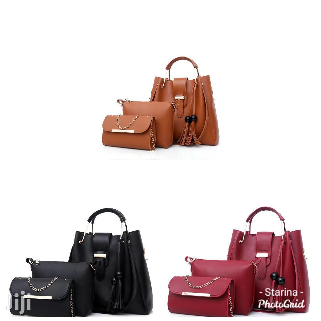 3 In 1 Pu Leather Handbag