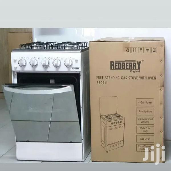 Red Berry 4 Gas Burners Auto Ignition Free Standing Cooker