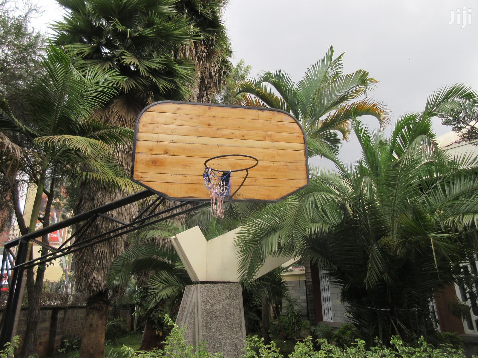 Basket Ball Court Hoop Construction And Set Up.
