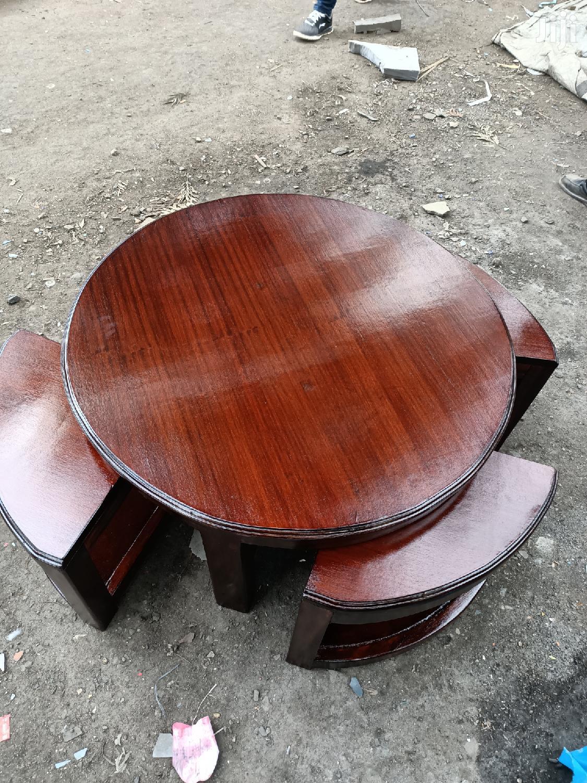 Archive Mahogany Coffee Table With 4 Stools In Ngara Furniture Mayfair Furniture Jiji Co Ke