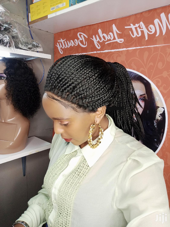 Semi Human Braided Wig