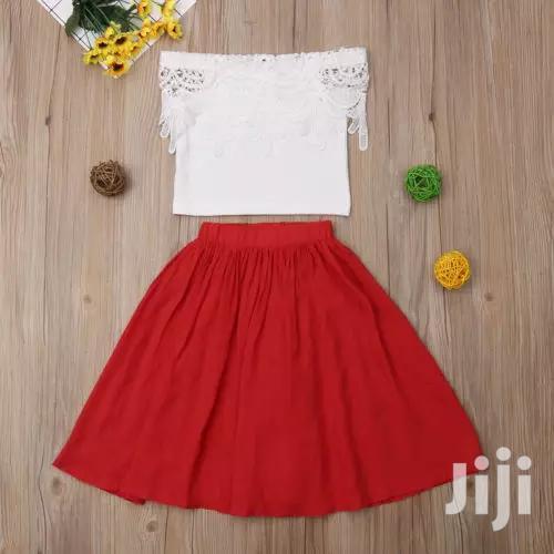 Red And White Skirt   Children's Clothing for sale in Mvita, Mombasa, Kenya