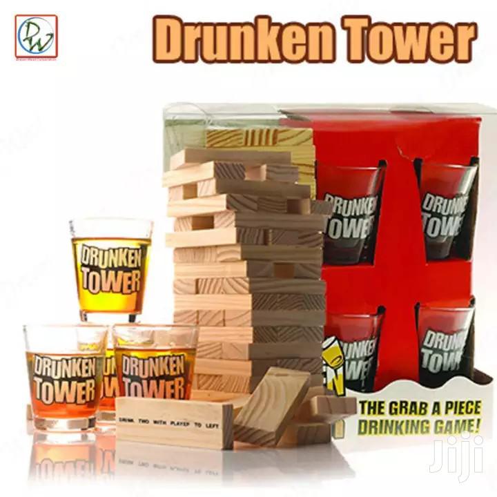 Drunken Tower Jenga Game