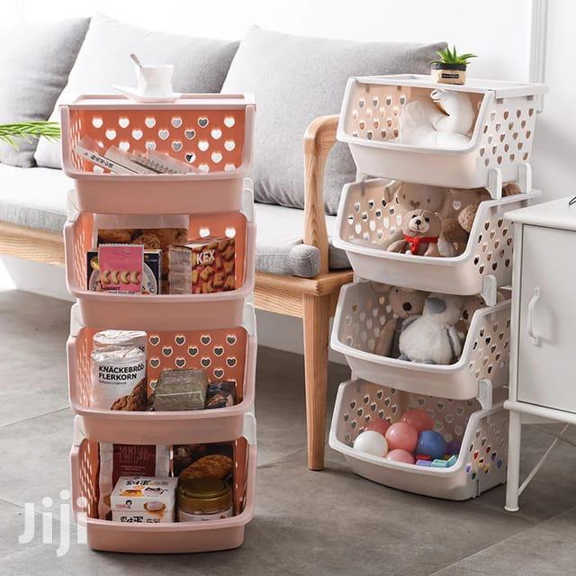 4 Tier Fruit/Vegetable Basket/Rack Plastic Fruit Storage