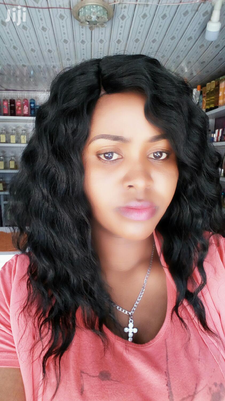 Semi Human Closure Curly Wig