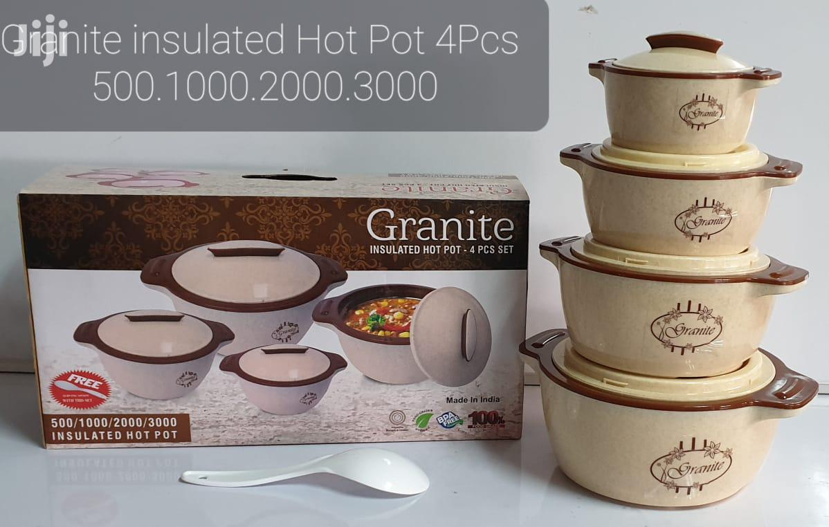 Redberry Granite Insulated Hot Pots - 4pcs