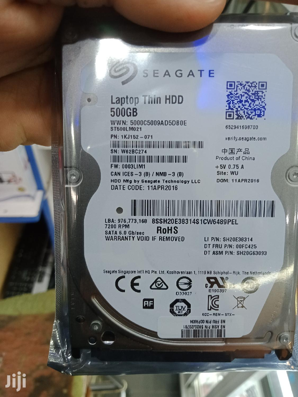 Archive: HDD Laptop Slim 500gb