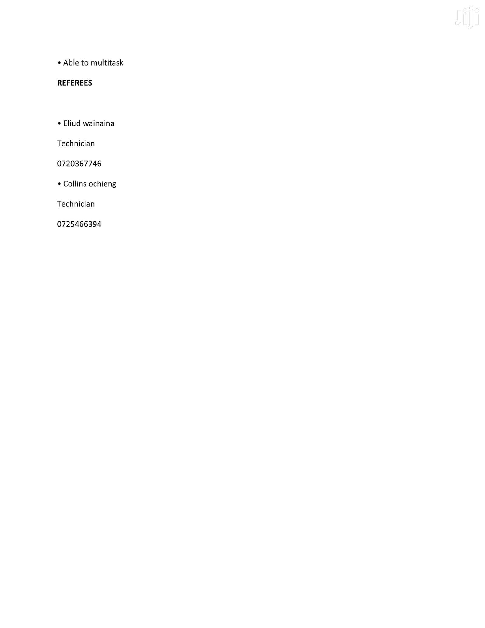 Sales & Telemarketing CV