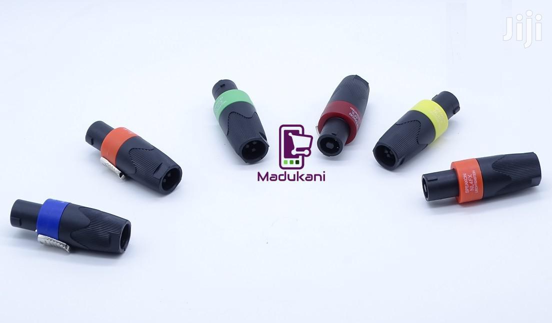 Set Of 6 Speakon NL4FX Lockable Cable Connectors