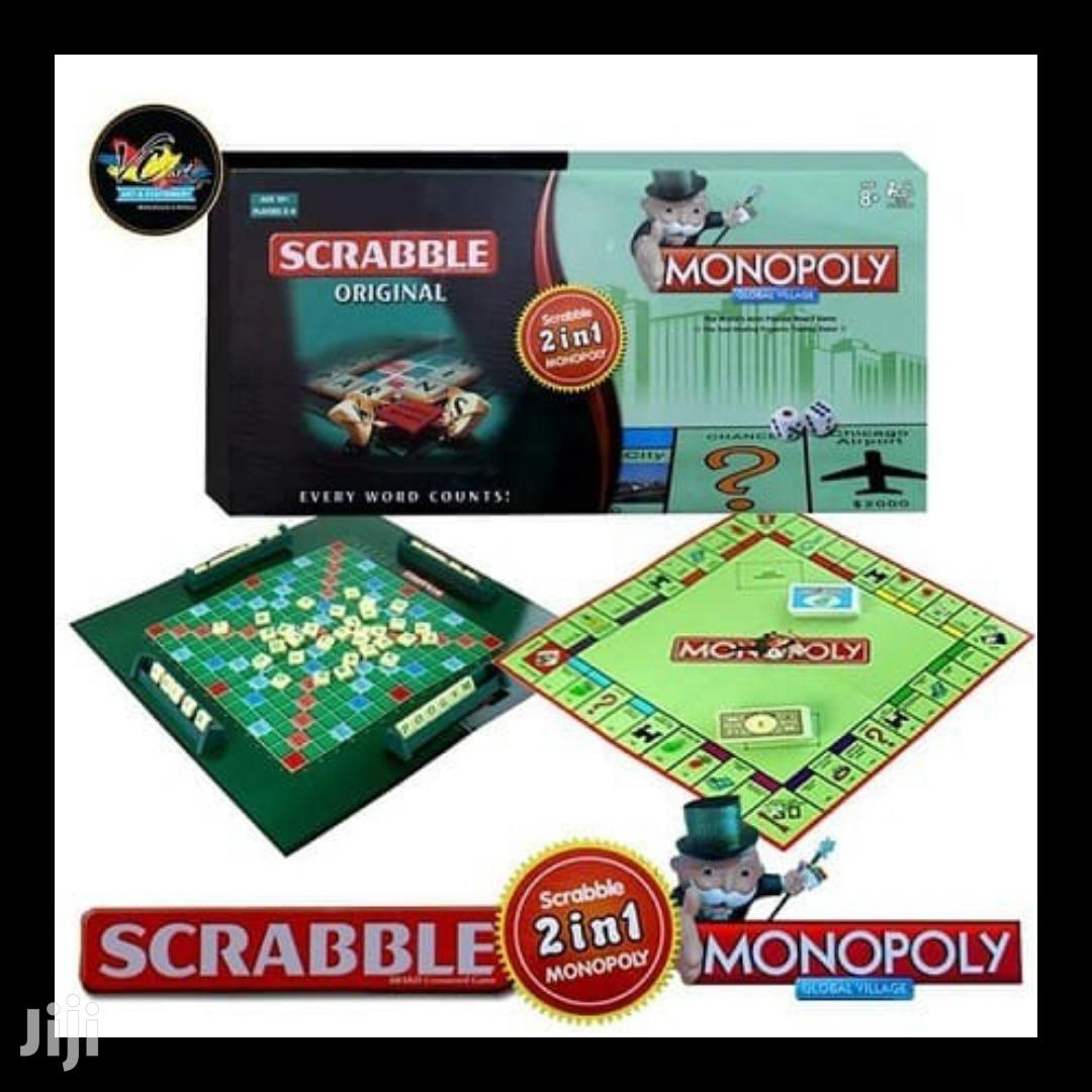 2 in 1 Monopoly and Scrabble