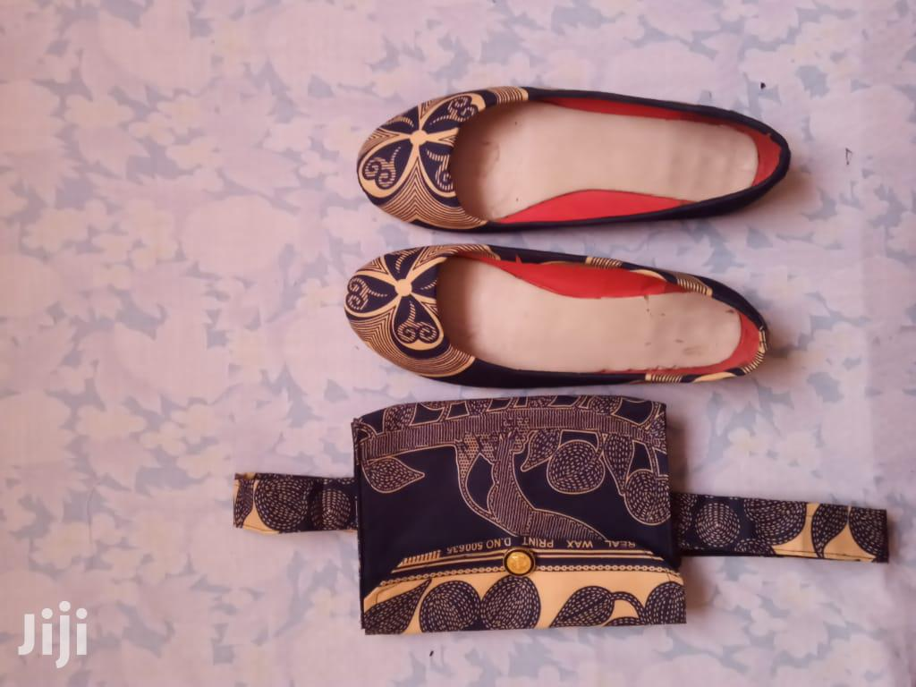 Customized Shoes And Waist Belt Bag / Clutch