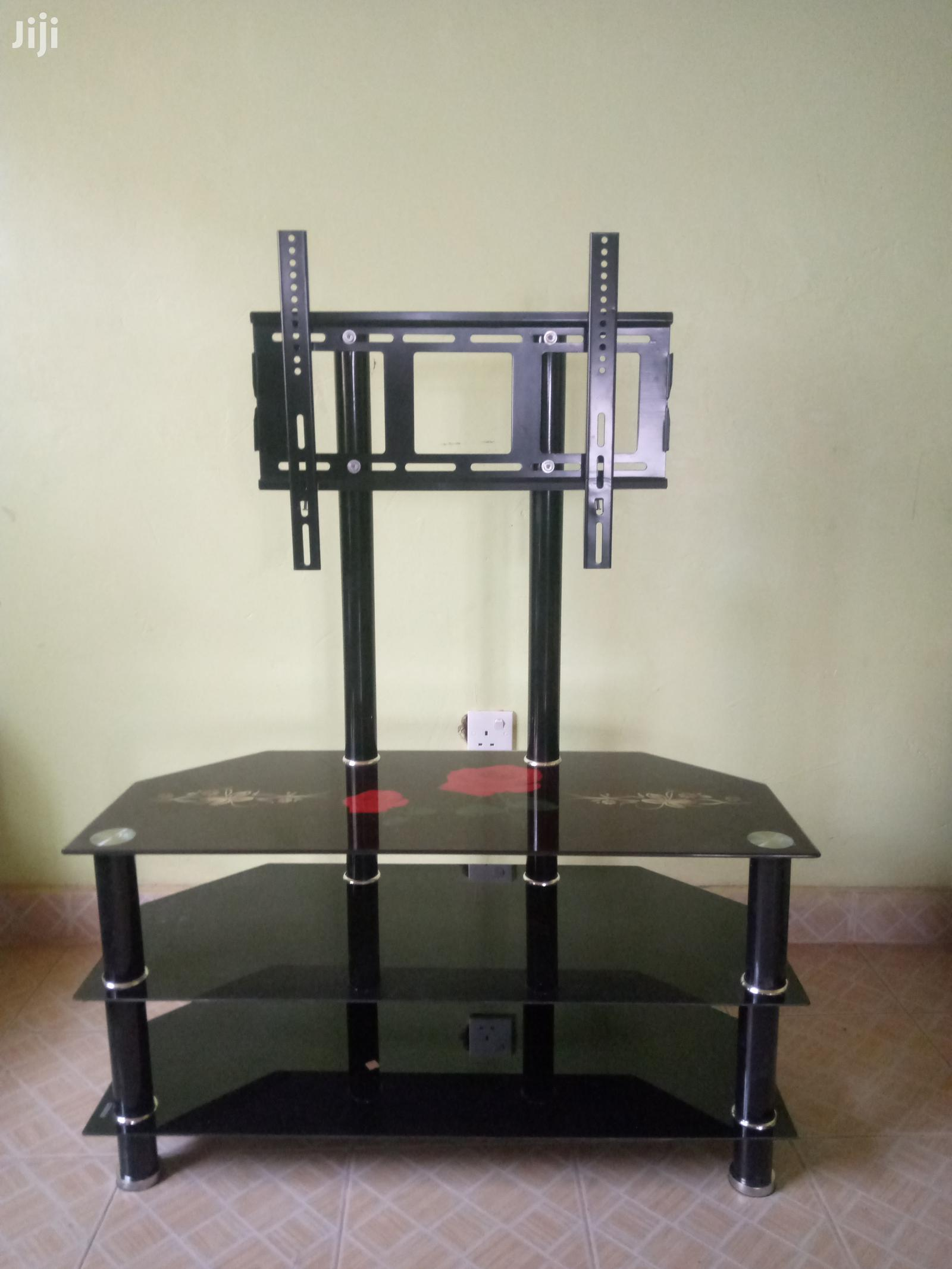 Imported Glass TV Stand Printed Design Shelves | Furniture for sale in Kahawa, Nairobi, Kenya