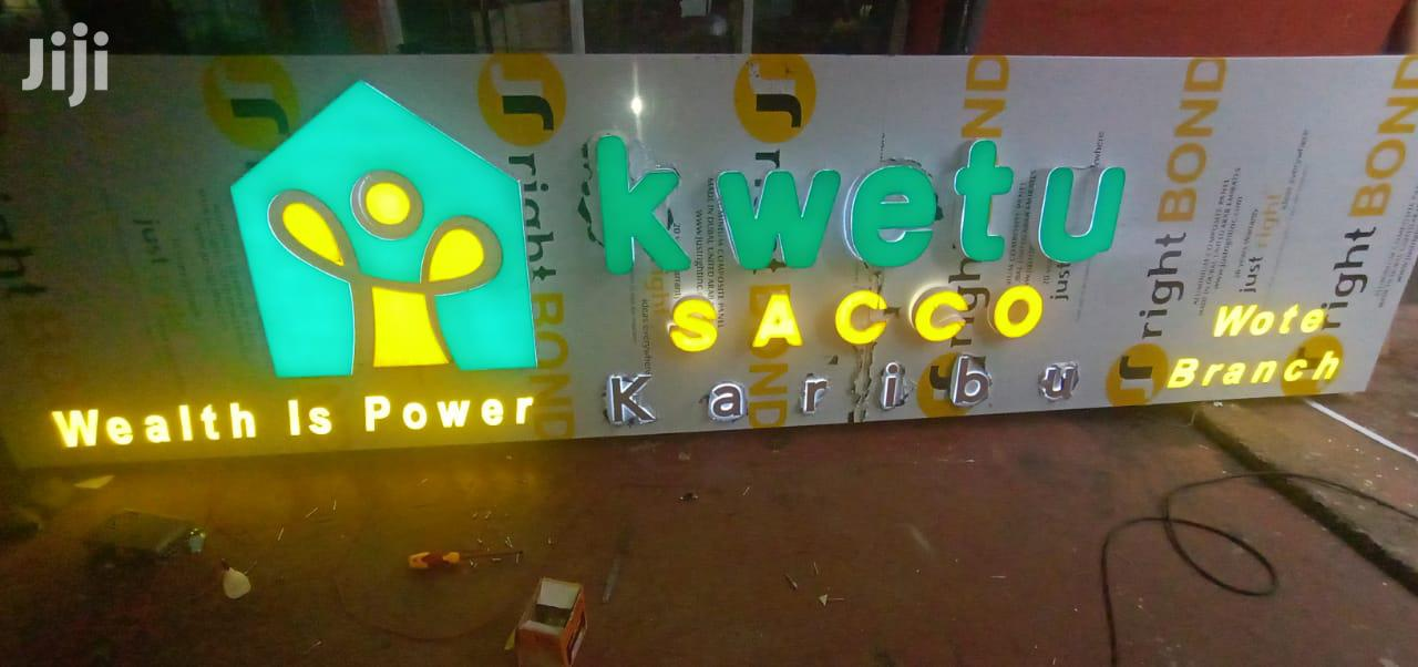 LED Light 3D Signage | Printing Services for sale in Nairobi Central, Nairobi, Kenya