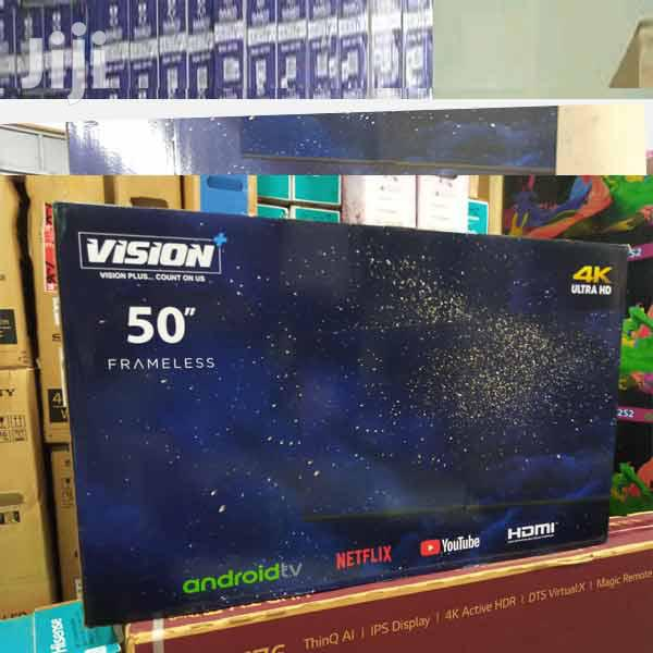 Archive: Vision Plus 50 Inch Frameless 4K UHD Smart Android Led TV