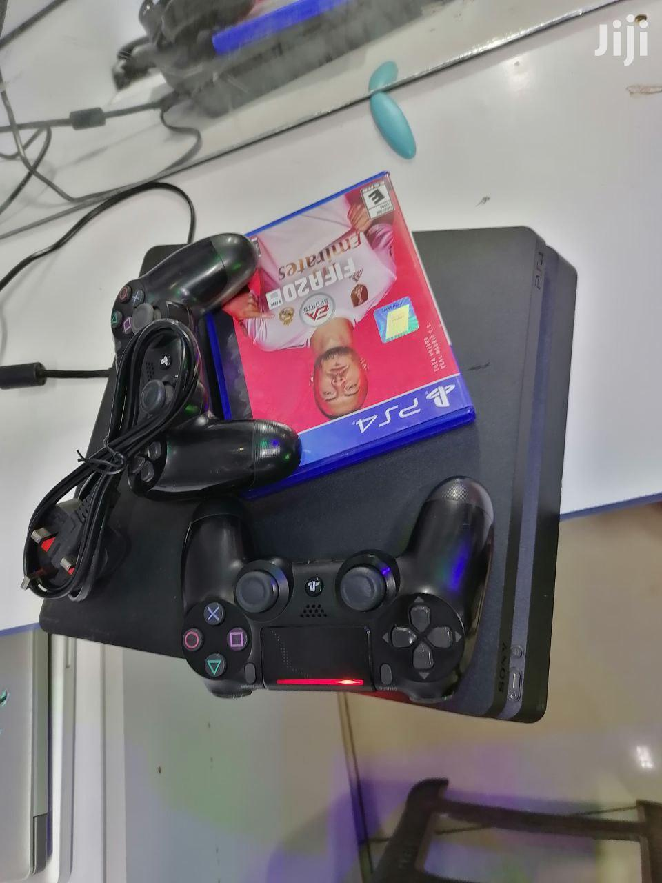 Ps4 Console With 2 Pad Controllers With Fifa 20 | Video Game Consoles for sale in Nairobi Central, Nairobi, Kenya