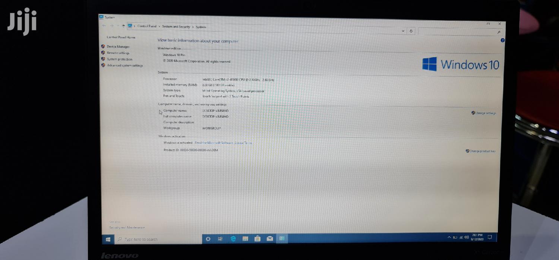 Laptop Lenovo ThinkPad X1 Carbon 8GB Intel Core I7 SSD 256GB | Laptops & Computers for sale in Nairobi Central, Nairobi, Kenya