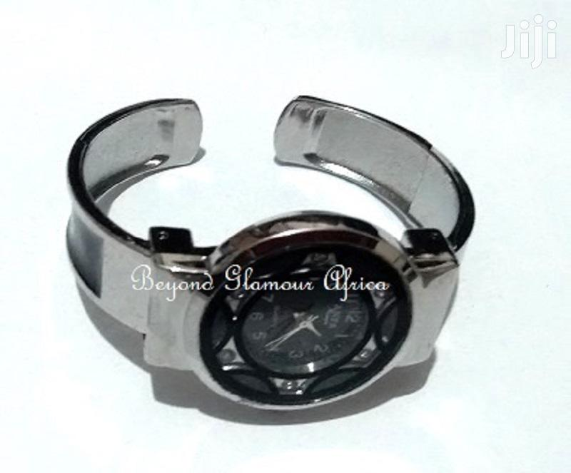 Fashion Silver Plated Black Head Ladies Bracelet Watch | Watches for sale in Nairobi Central, Nairobi, Kenya