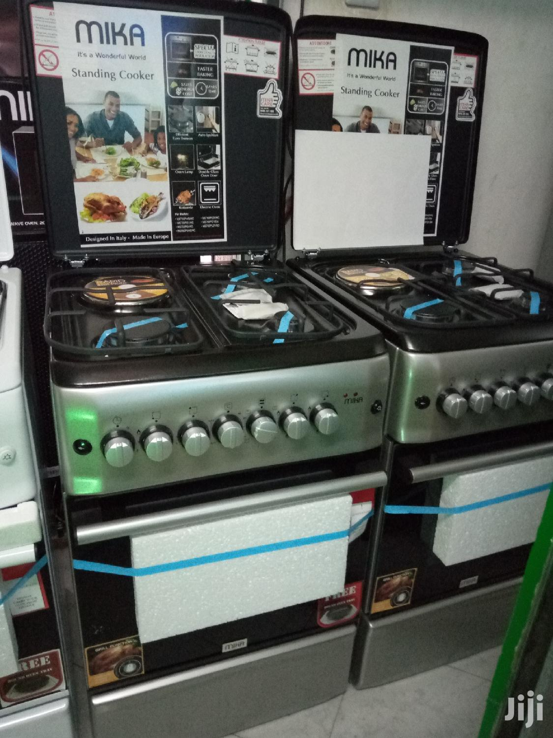 Mika Standing Cookers 3 Burner Gas, 1E and Oven Electric | Kitchen Appliances for sale in Kisauni, Mombasa, Kenya