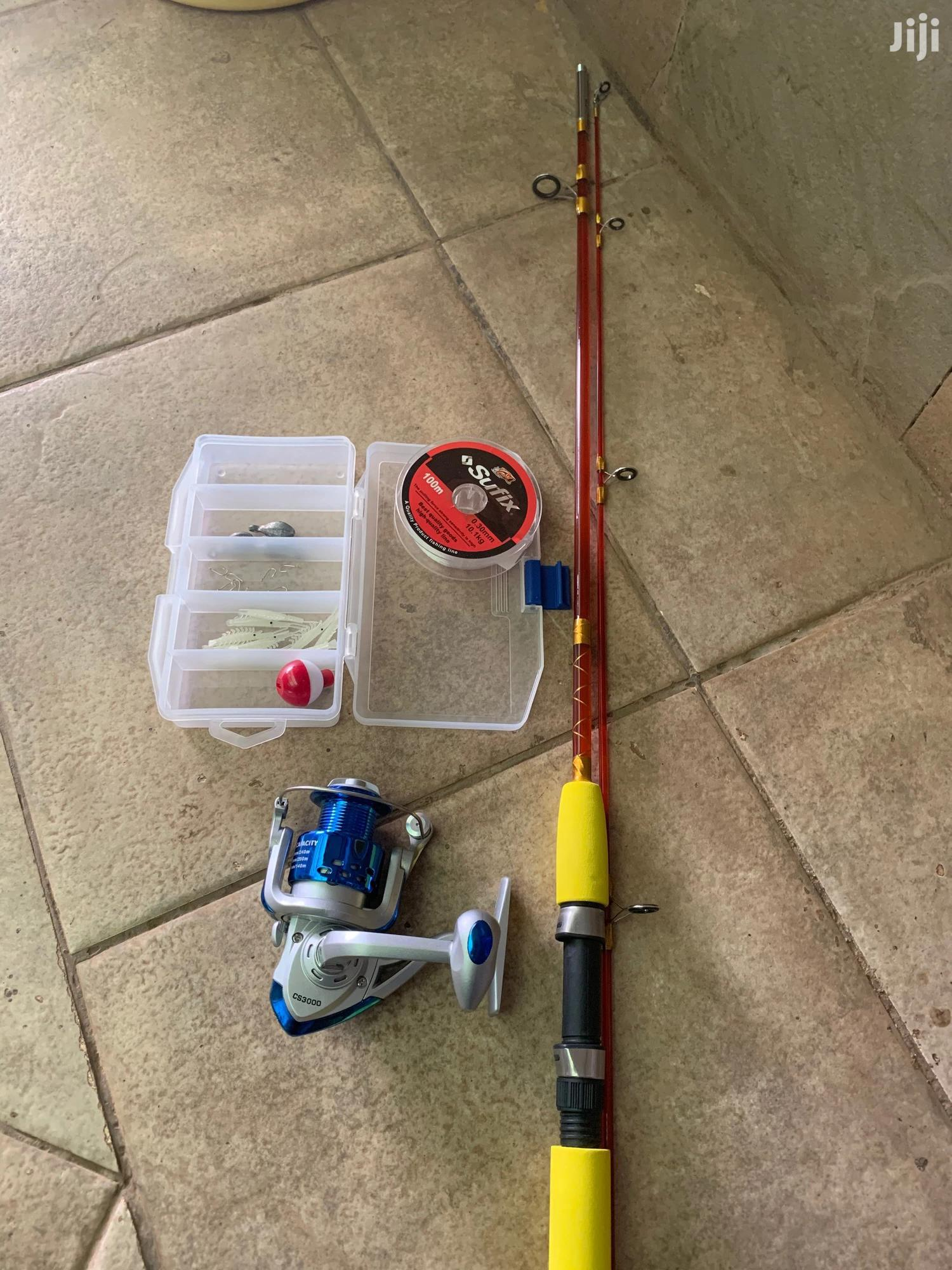 Archive: Zukoi Fishing Rod and Reel Combo With Tackle Box