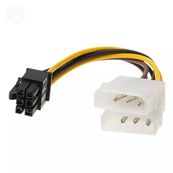 2x Molex TO 6 Pin PCI Express Power Adapter Cable