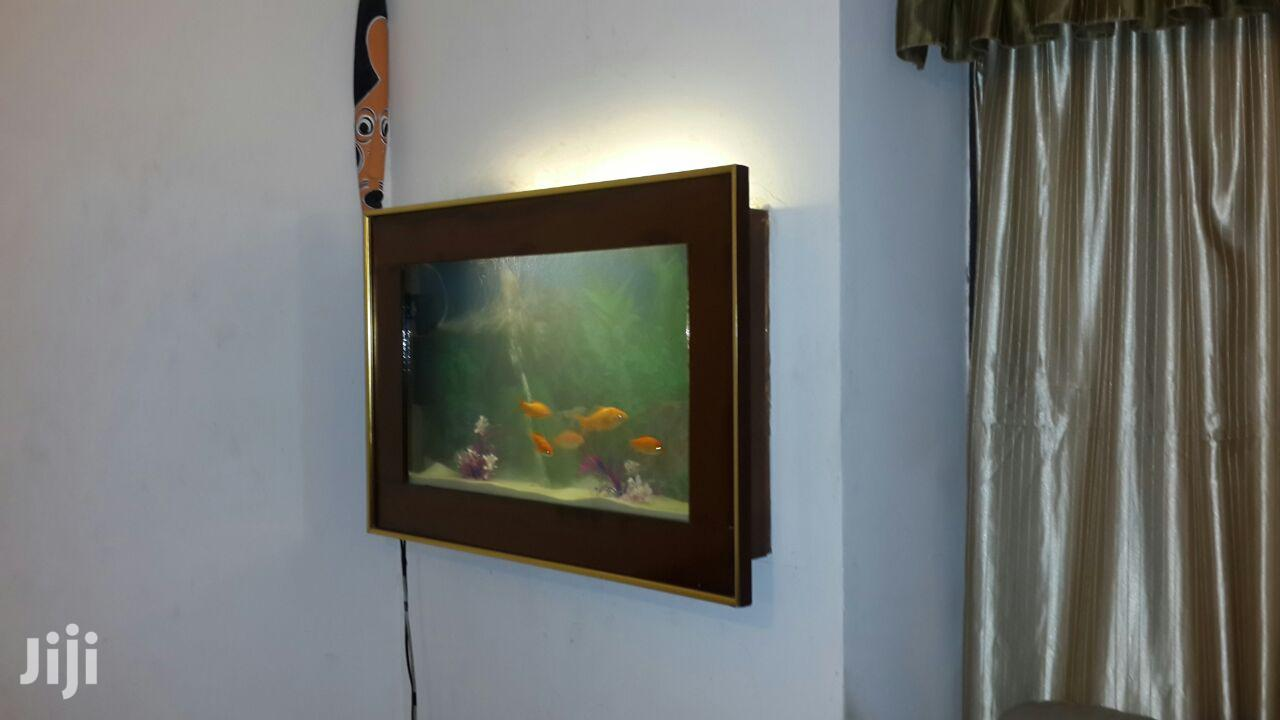 Beautiful FISH AQUARIUM (Fish Tank) In-house Wall Mountable