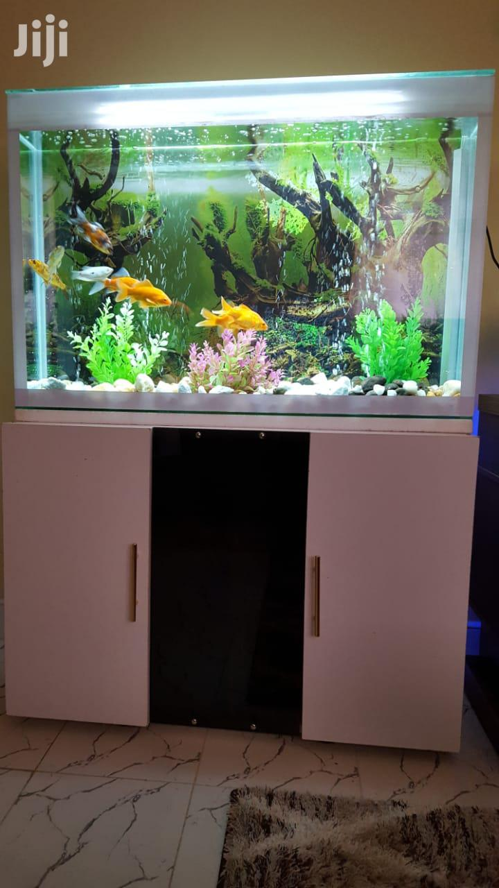 Stylish Wooden Tv-stand FISH AQUARIUM - Fish Tank Pond