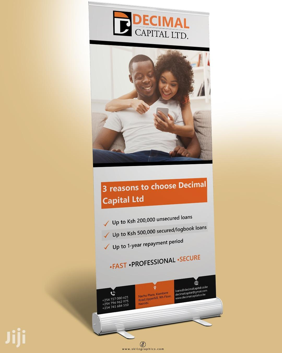 Roll Up Banner Design & Printing Graphic Design