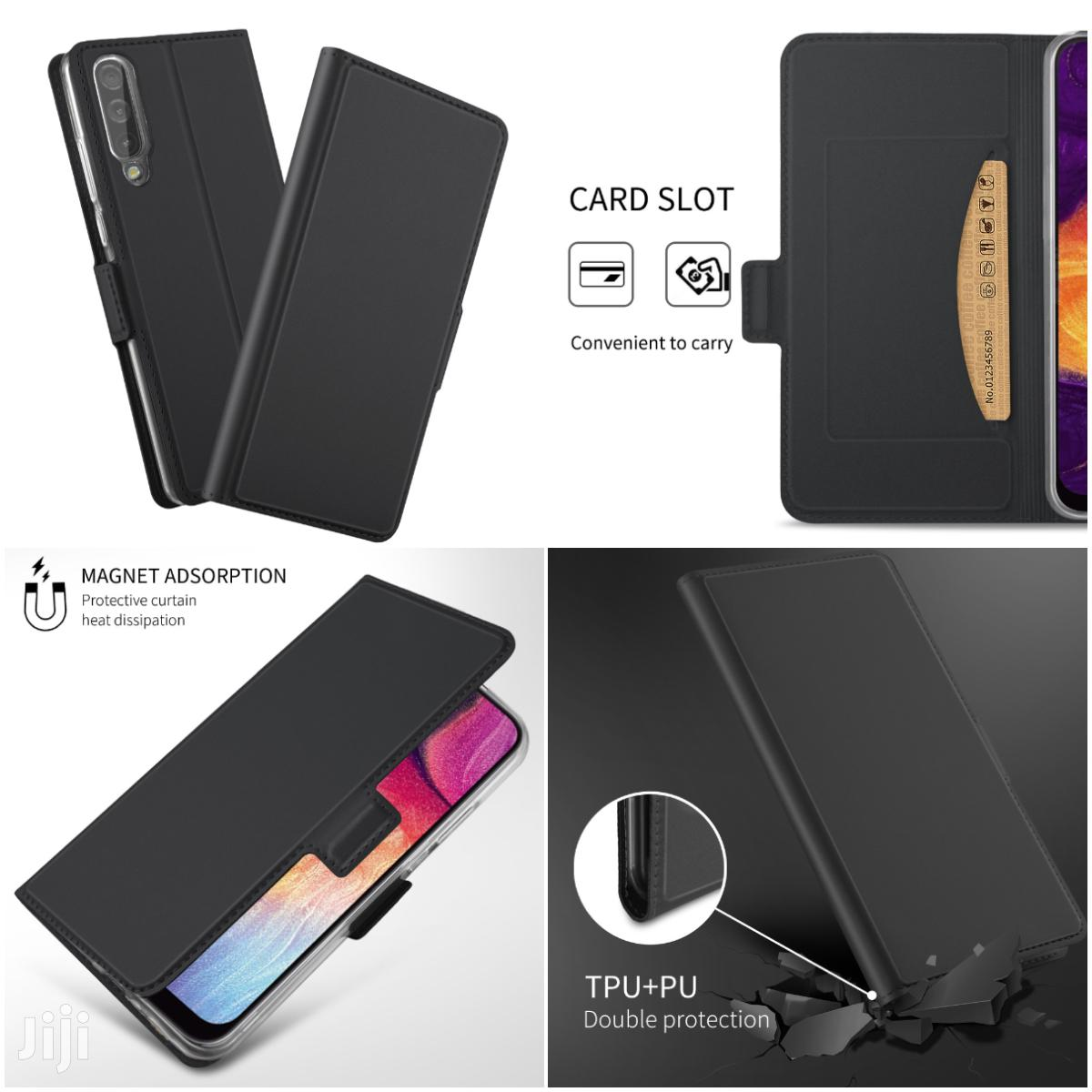 Magnetic Adsorption Flip Case With Card Holder Black | Accessories for Mobile Phones & Tablets for sale in Mvita, Mombasa, Kenya