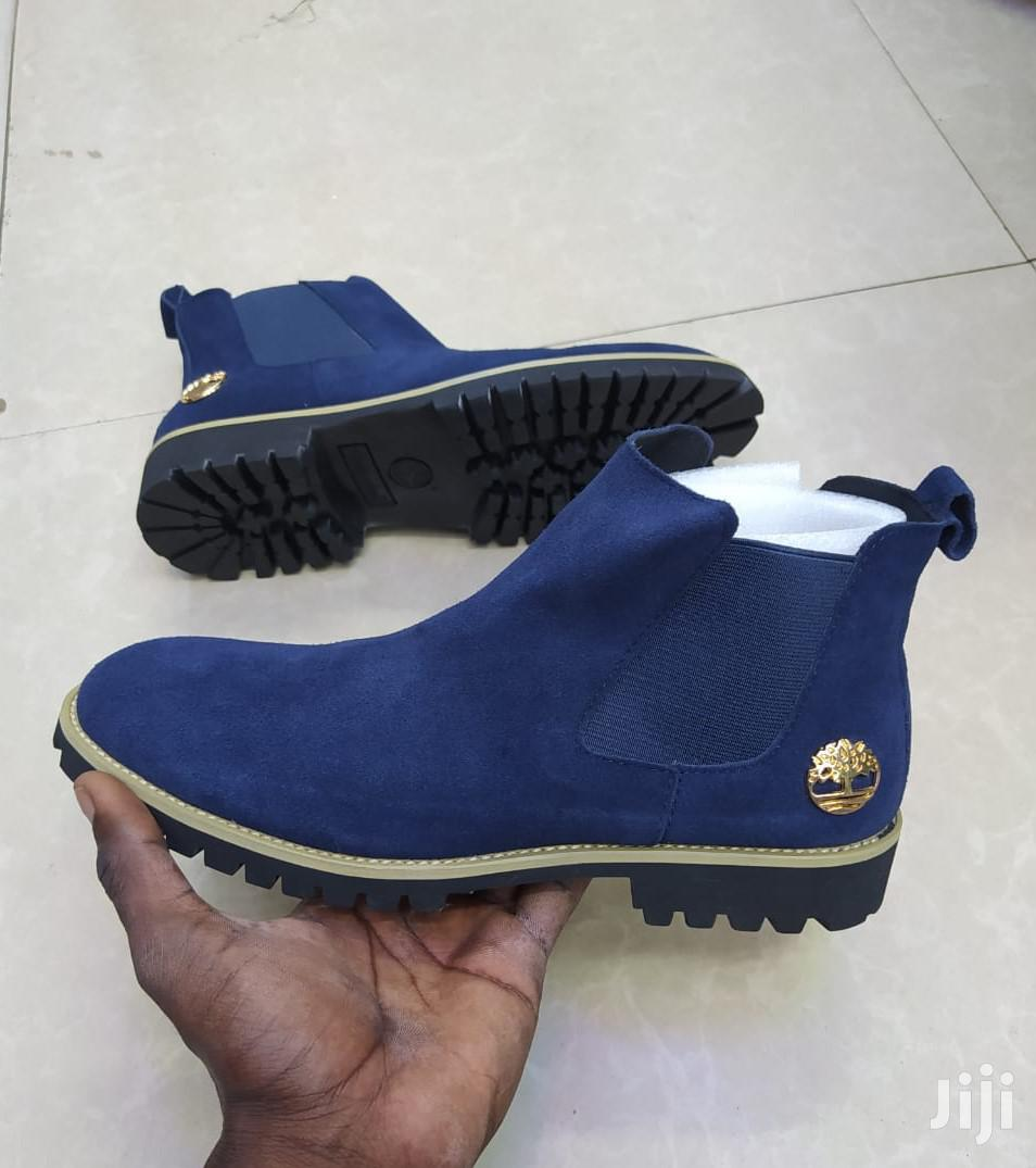 Timberland Mens Suede Leather Boots -Blue | Shoes for sale in Nairobi Central, Nairobi, Kenya