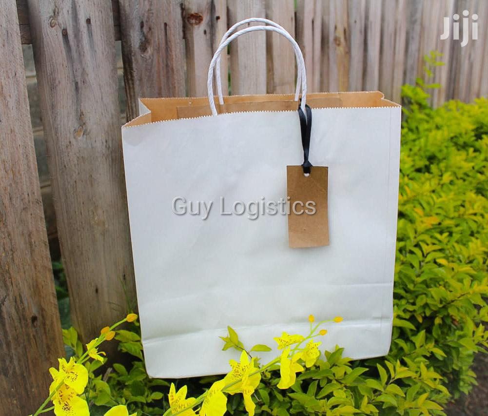 Archive: White Kraft Shopping/Gift Bags