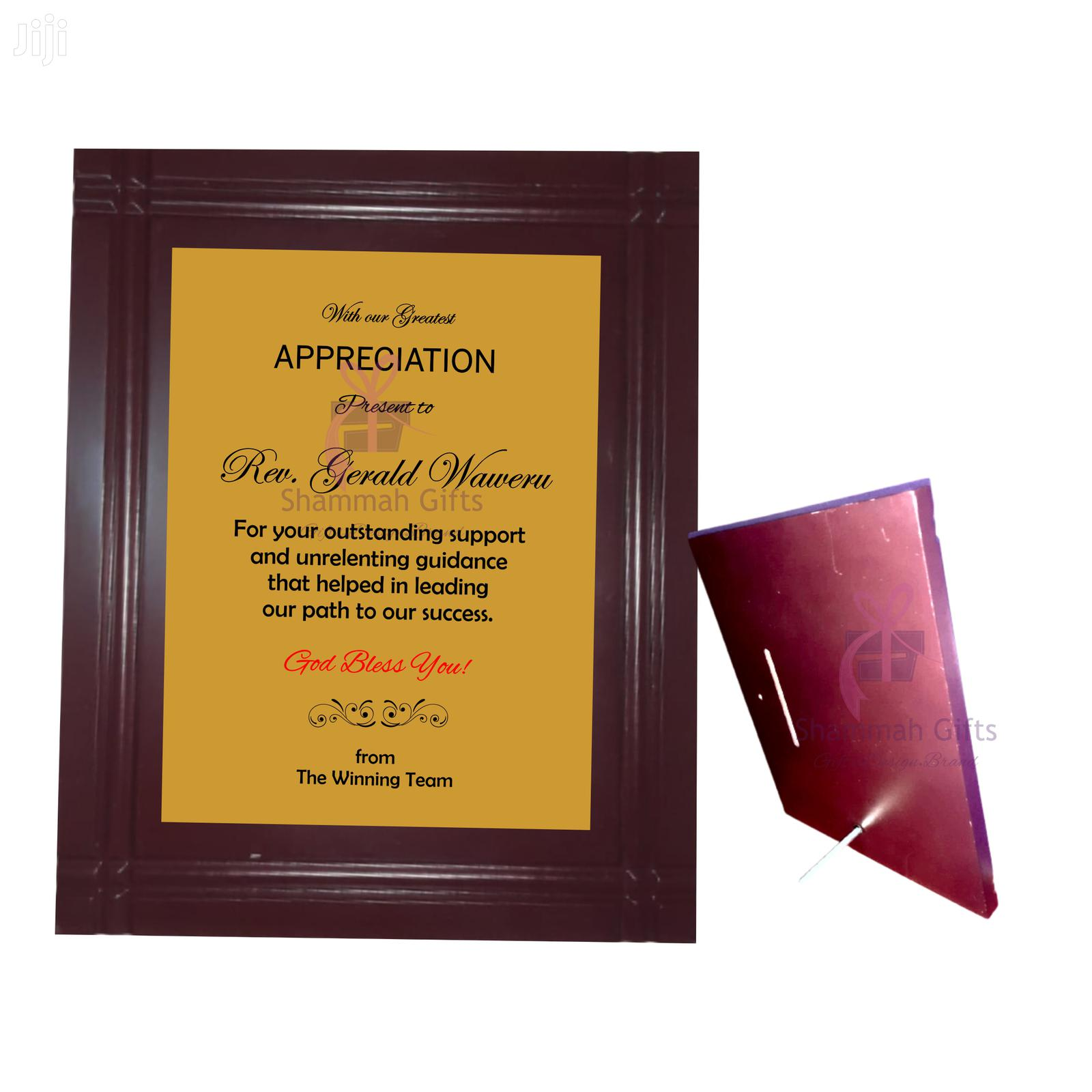 Classy And Elegant Wooden Plaque Trophy/Award Branded With Y