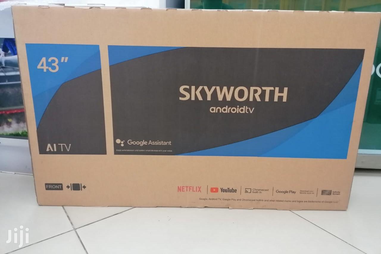 """Skyworth 43"""" Frameless Smart Android LED 43TB7000 TV Black"""