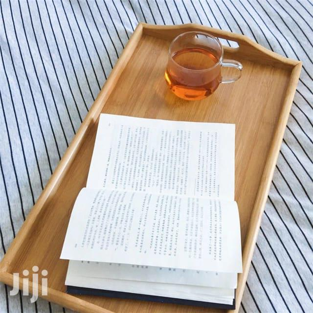 Bamboo Foldable Breakfast Tray Table With Stands