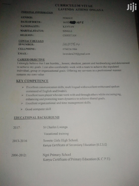 Receptionist Required | Hotel CVs for sale in Langata, Nairobi, Kenya