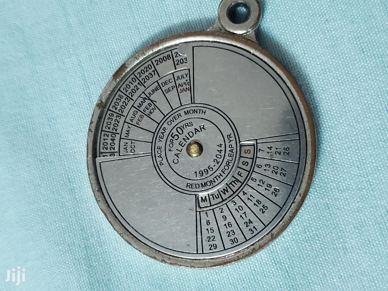 Archive: Vintage 50 Years Analog Metallic Calendar