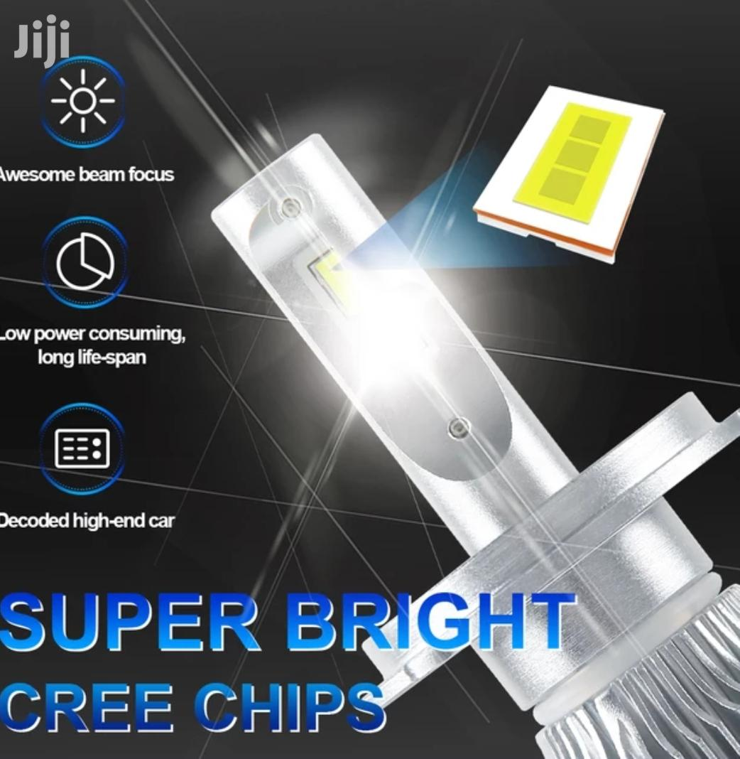 Led Head Light H4 Bulb 72watts 8000LM 6500k White Cree Chip | Vehicle Parts & Accessories for sale in Nairobi Central, Nairobi, Kenya