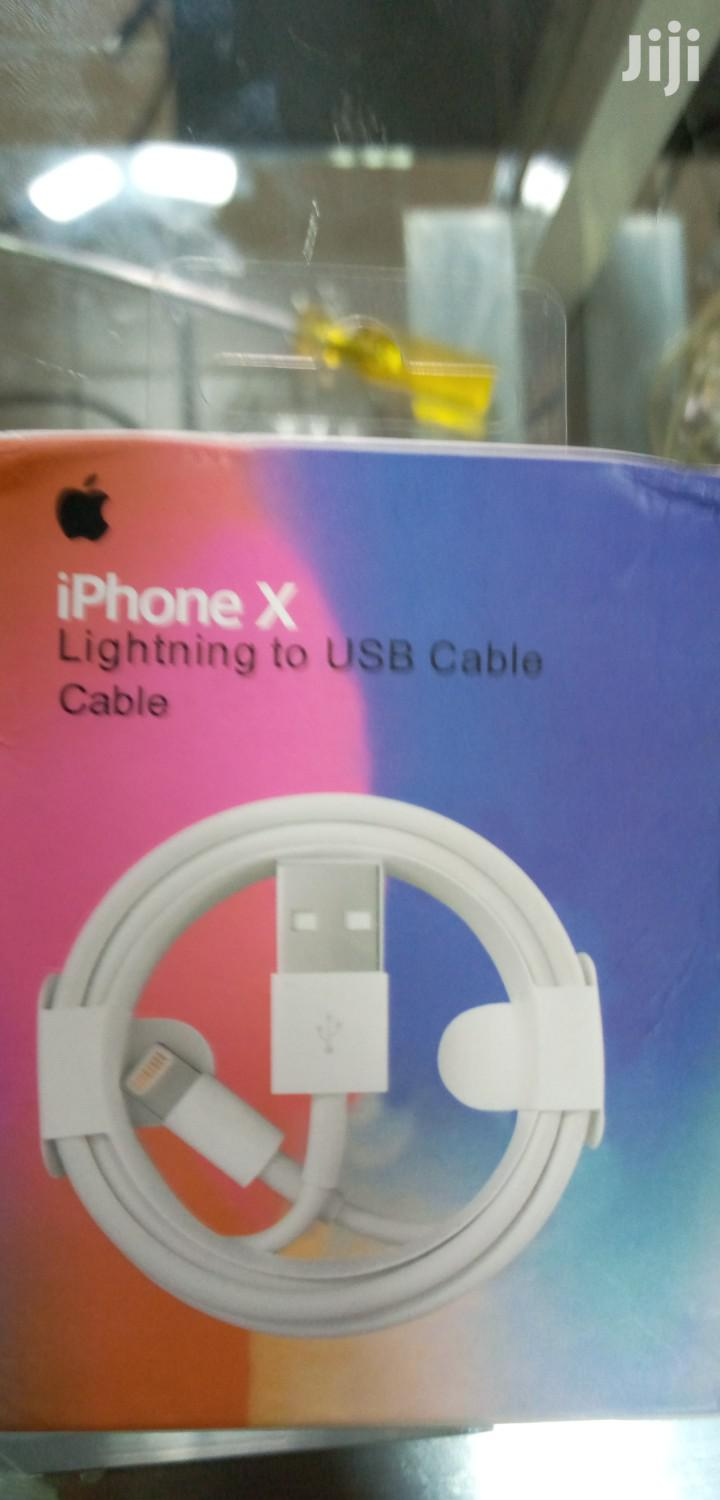 iPhone Lightning To USB Original Cable Charger. | Accessories for Mobile Phones & Tablets for sale in Nairobi Central, Nairobi, Kenya