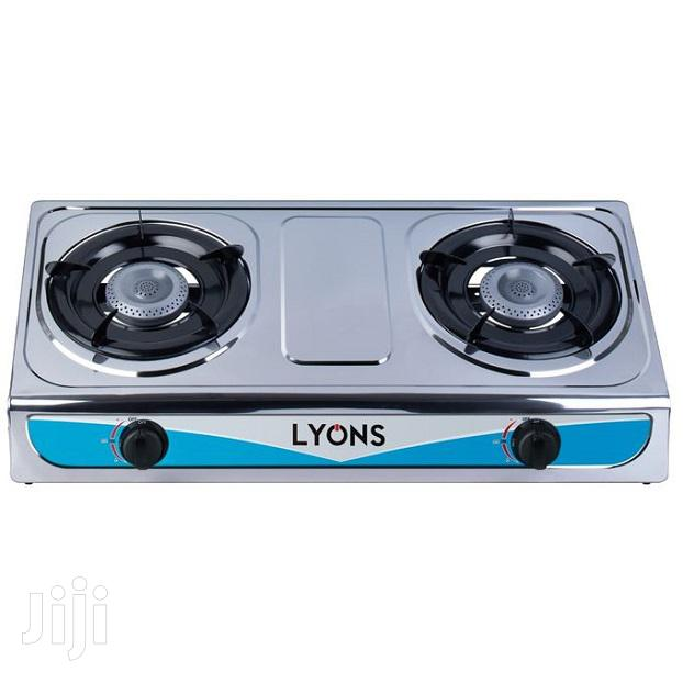 Lyons GS013 Stainless Steel Gas Stove Two Burner