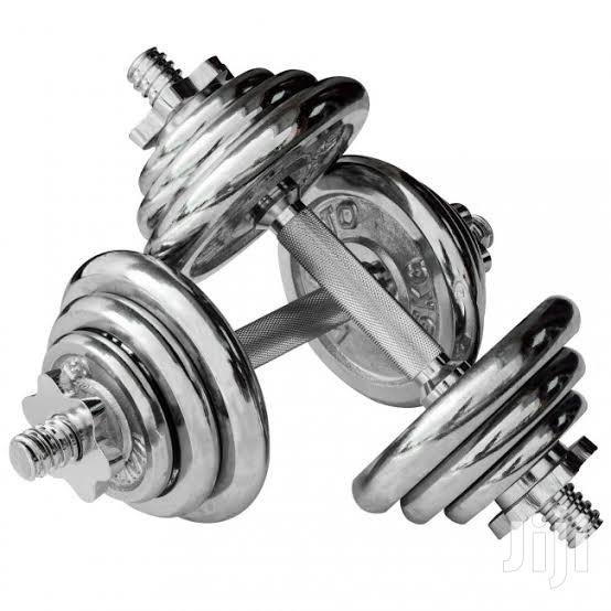Crome Dumbbells Weights 20kg | Sports Equipment for sale in Nairobi Central, Nairobi, Kenya