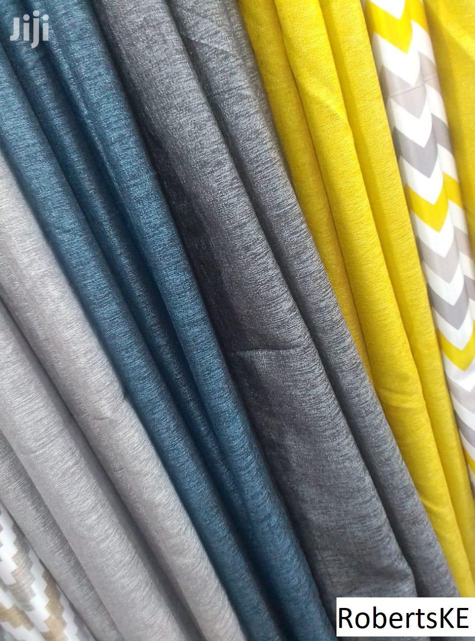 Plain Grey Linen Curtain