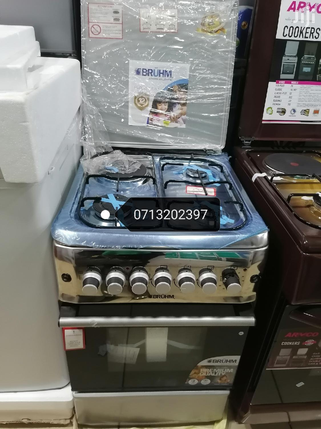 Brand New Bruhm 3gas and 1 Electric Cooker