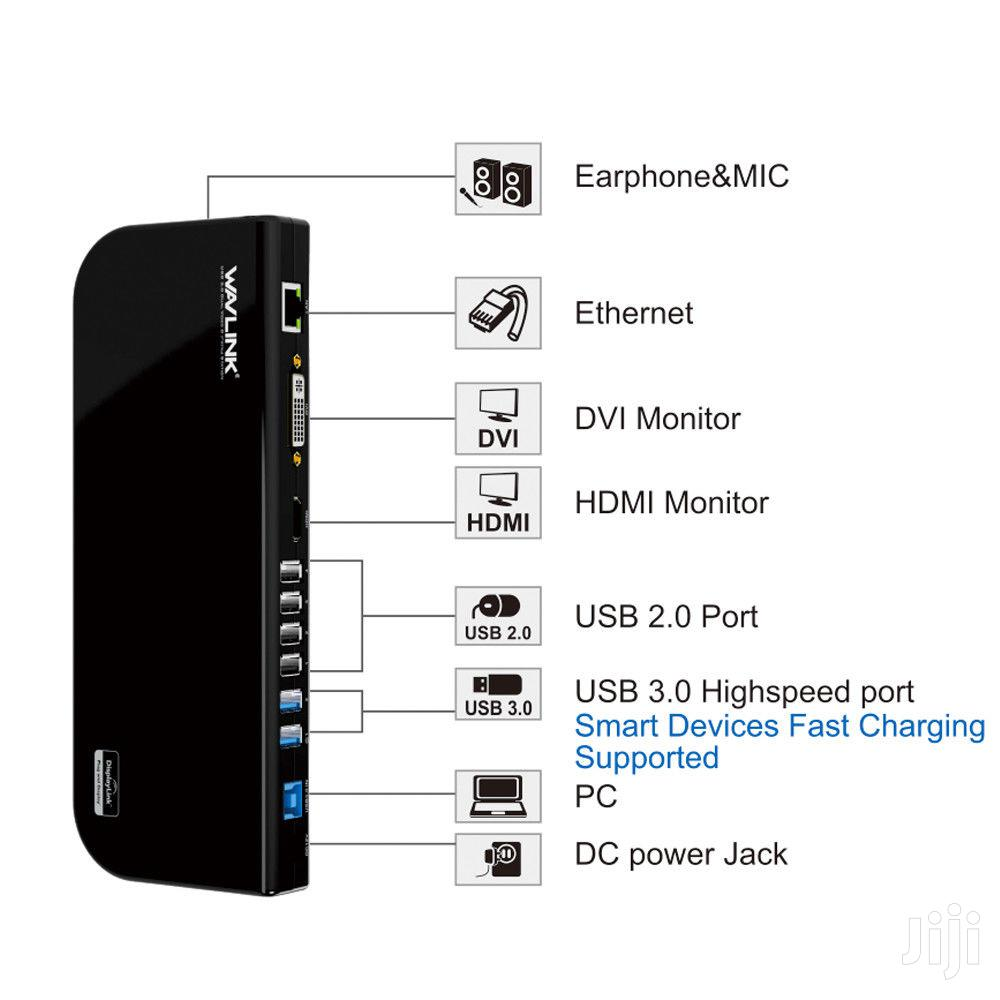 WAVLINK USB 3.0 Universal Docking Station, Dual Video Monitor Display | Computer Accessories  for sale in Parklands/Highridge, Nairobi, Kenya