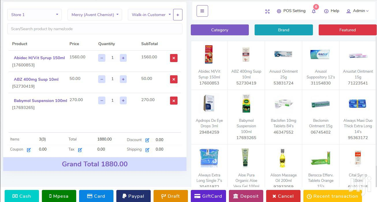 Online Point Of Sale With Inventory Manager