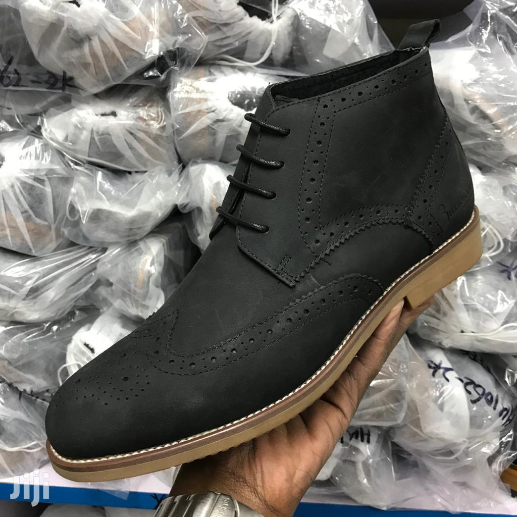 Black Pure Leather Boots | Shoes for sale in Nairobi Central, Nairobi, Kenya