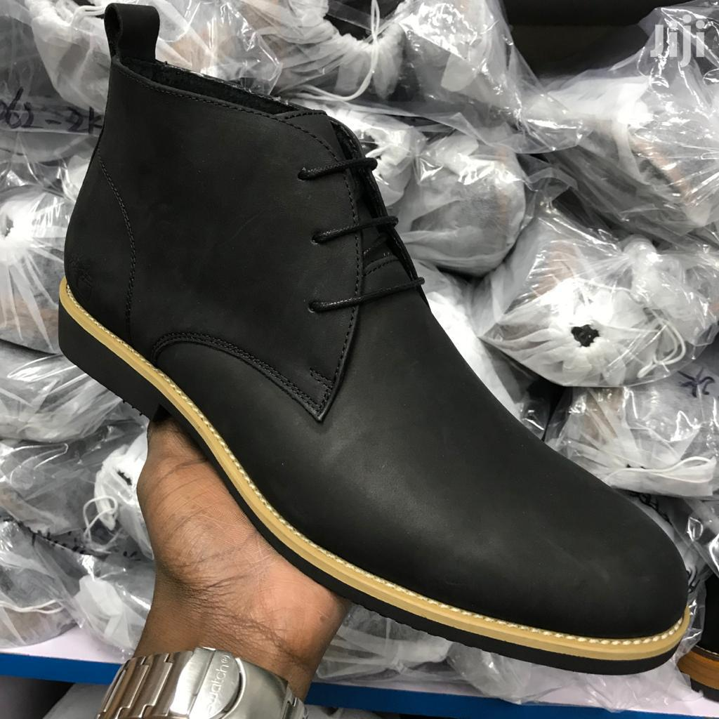 Black Pure Leather Boots