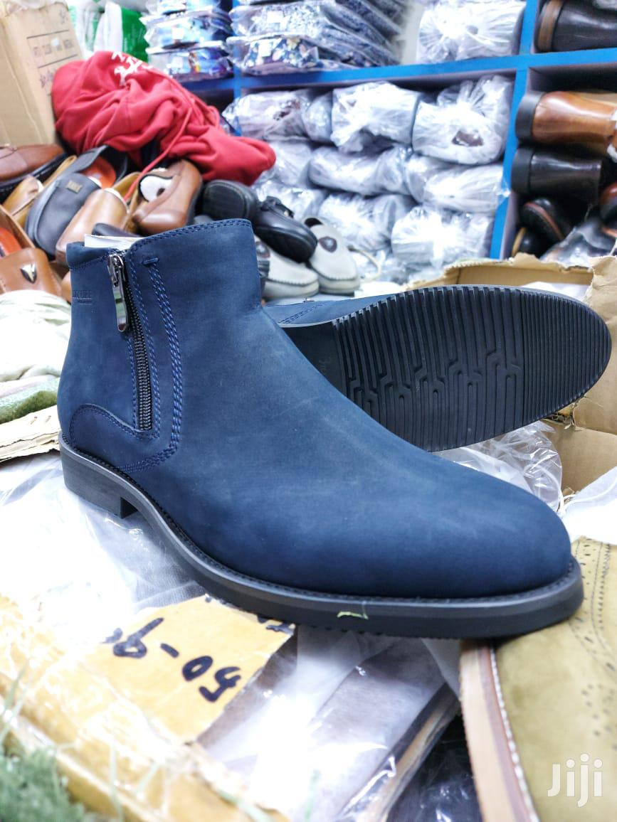 Blue Pure Leather Boots | Shoes for sale in Nairobi Central, Nairobi, Kenya